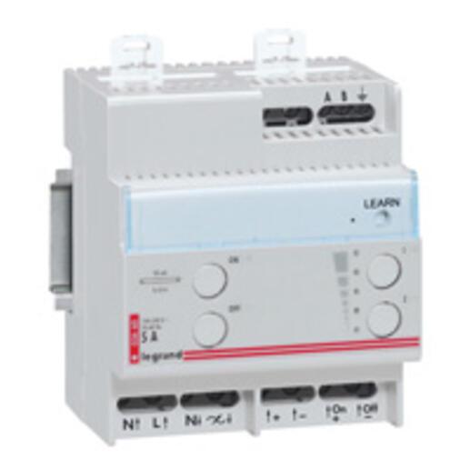 Télévariateur modulaire fonctionnement sur BUS pour sources lumineuses à ballast 1V à 10V séparé - 1000VA - 4 modules