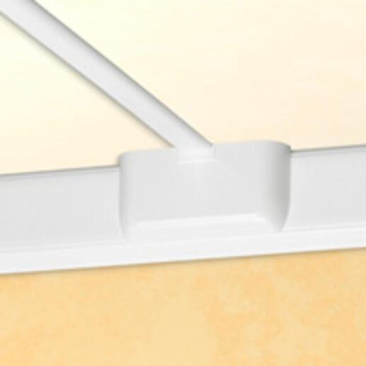 Dérivation vers changement de plan pour goulottes DLP monobloc avec couvercle 85mm - blanc