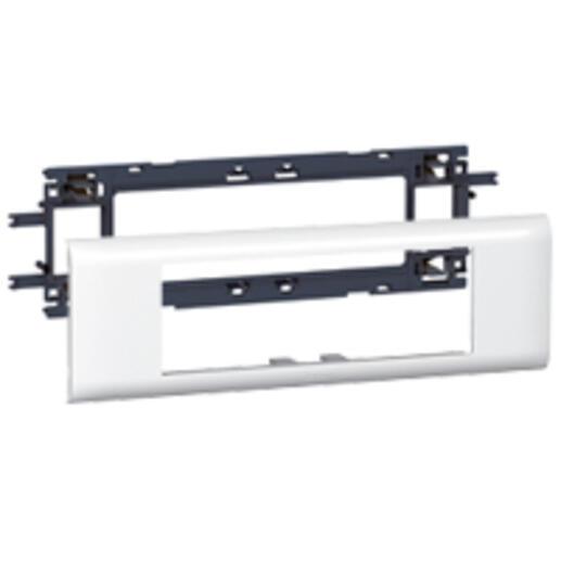 Support Mosaic 6 modules pour goulotte DLP monobloc avec couvercle 65mm