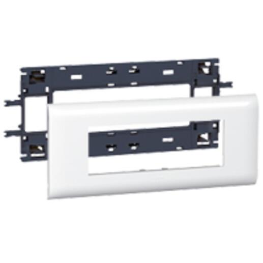 Support Mosaic 6 modules pour goulotte DLP monobloc avec couvercle 85mm