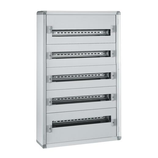 Coffret distribution métal XL³160 tout modulaire 5 rangées 900x575x147mm - 120 modules