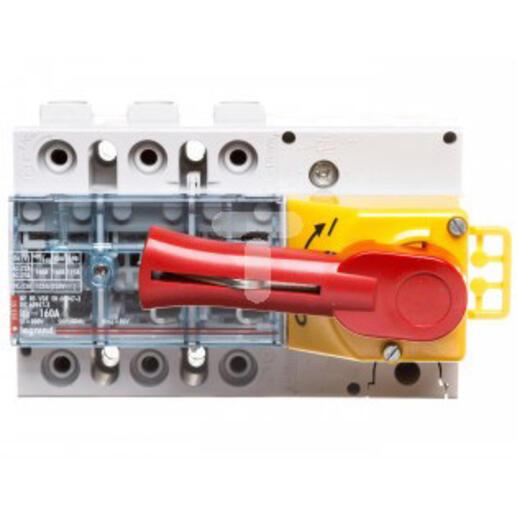 Interrupteur-sectionneur Vistop 160A - 3P avec commande frontale et poignée rouge