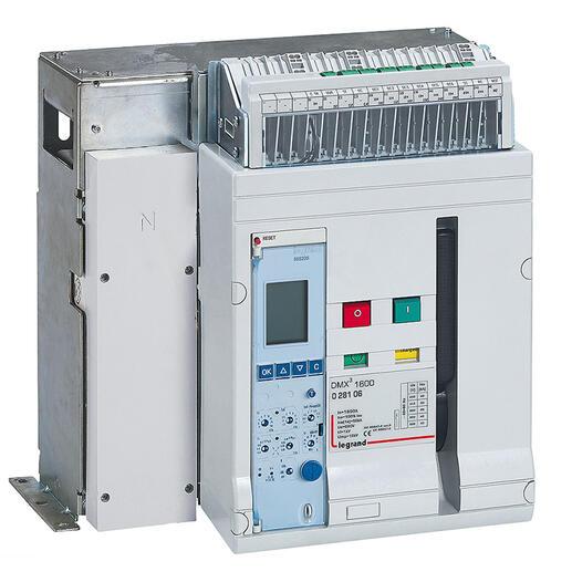 Disjoncteur ouvert complet débrochable DMX³1600 pouvoir de coupure 50kA 415V~ - 3P - 1600A