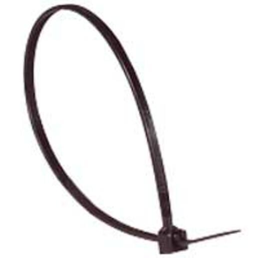 Collier Colring noir à denture intérieure largeur 2,4mm et longueur à plat 140mm