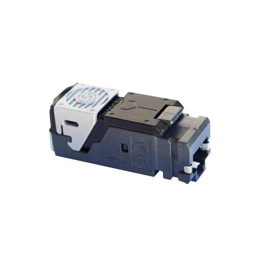 Lot de 6 connecteurs RJ45 haute densité catégorie5e FTP LCS³ pour panneau de brassage droit et en angle