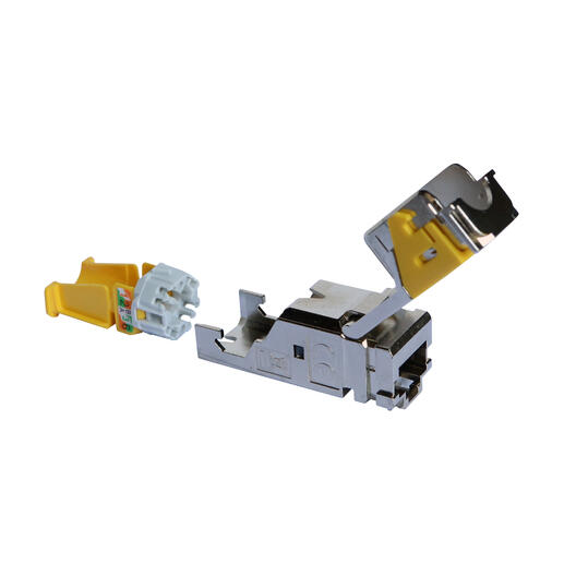Lot de 6 connecteurs RJ45 haute densité catégorie6A UTP LCS³ pour panneau de brassage droit et en angle