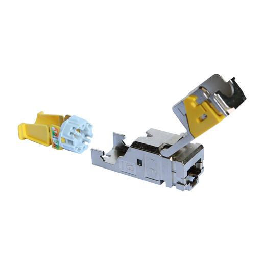 Lot de 6 connecteurs RJ45 haute densité catégorie6A STP LCS³ pour panneau de brassage droit et en angle