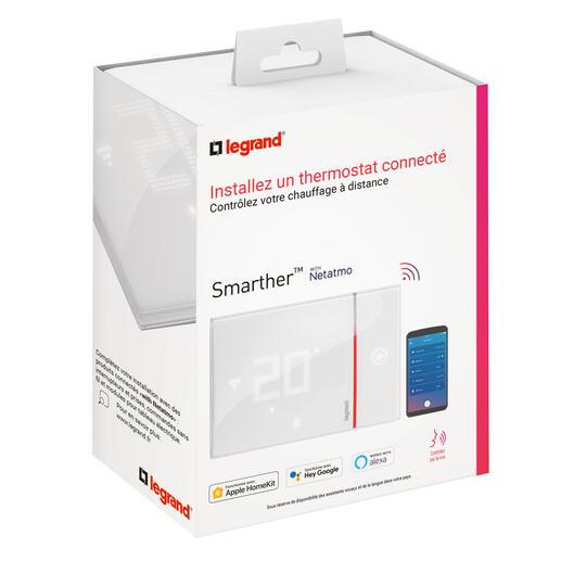 Thermostat connecté Smarther with Netatmo pour montage saillie - blanc