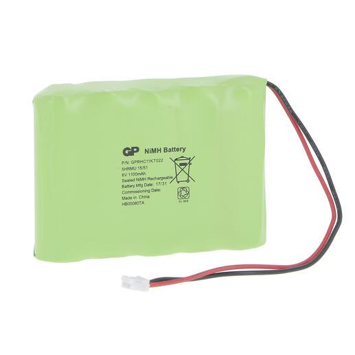 Batterie Ni-Mh 6 V - 1,1 Ah d'accumulateurs pour maintenance BAES Adressable et SATI Connecté