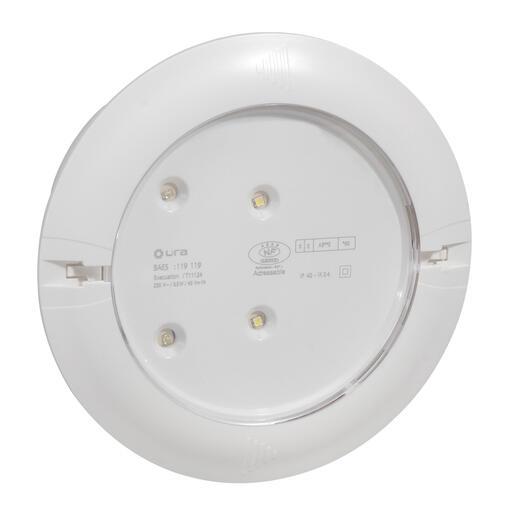 BAEH encastré à LEDs 8lm 5h Kickspot IP40 IK04 plastique SATI Connecté
