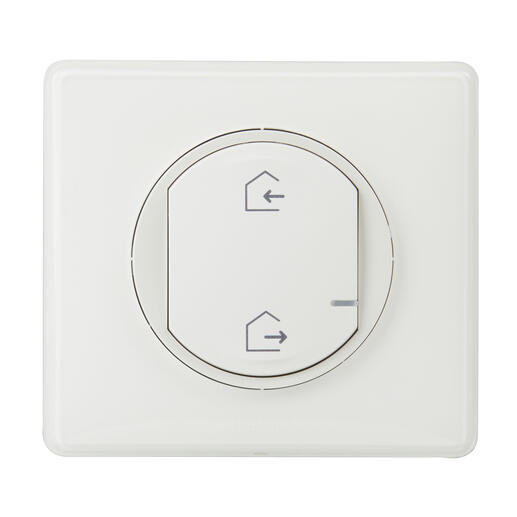 Commande génerale sans fil Départ/Arrivée pour installation connectée Céliane with Netatmo - blanc