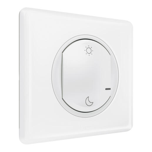 Commande sans fils Lever/Coucher pour installation connectée Céliane with Netatmo - blanc