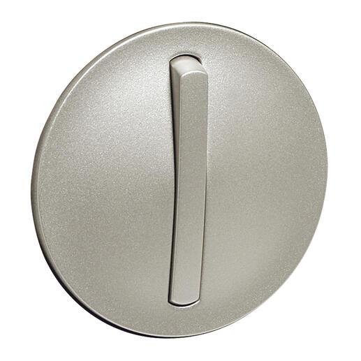 Enjoliveur étroit Céliane pour interrupteur , va-et-vient ou poussoir lumineux - finition titane