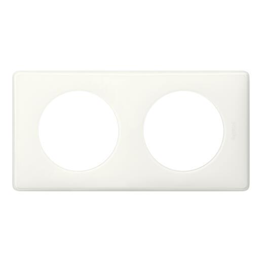 Plaque Céliane Laqué 2 postes - finition Blanc