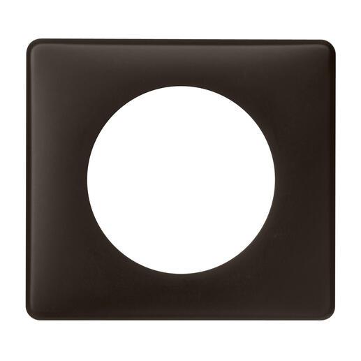 Plaque Céliane Poudré 1 poste - finition Basalte