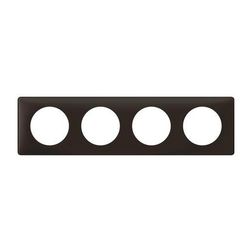 Plaque de finition Céliane - Poudré Basalte - 4 postes