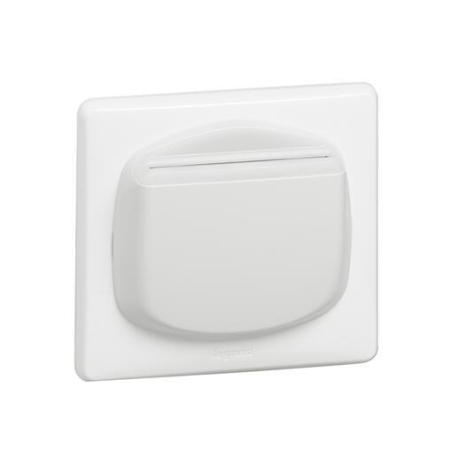 Enjoliveur Céliane interrupteur à badge pour hôtel - blanc