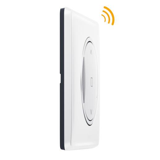 Commande sans fil pour volet roulant pour installation connectée Céliane with Netatmo avec plaque Laqué Blanc