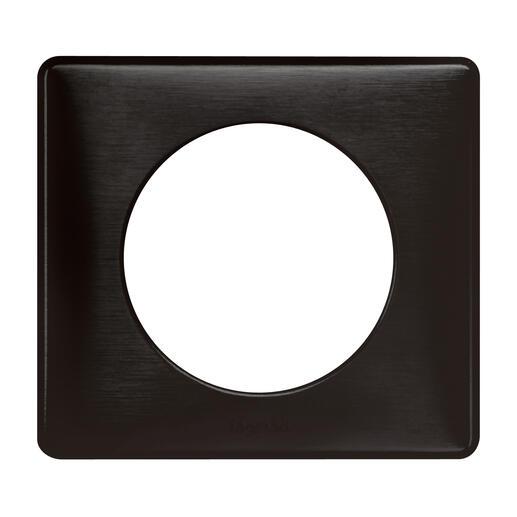 Plaque Céliane Métal 1 poste - finition Carbone