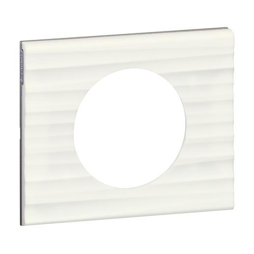 Plaque de finition Céliane - Matière Corian® Cannelé - 1 poste