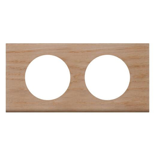 Plaque de finition Céliane - Matière Chêne Blanchi - 2 postes