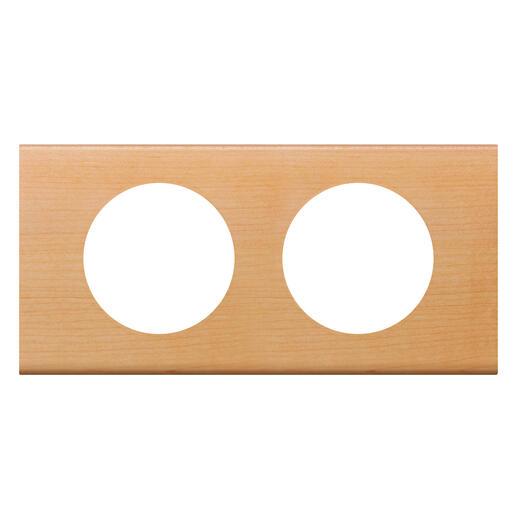 Plaque de finition Céliane - Matière Erable - 2 postes