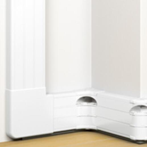 Goulotte 3 compartiments à clippage direct 50x180mm Mosaic de longueur 2m - blanc