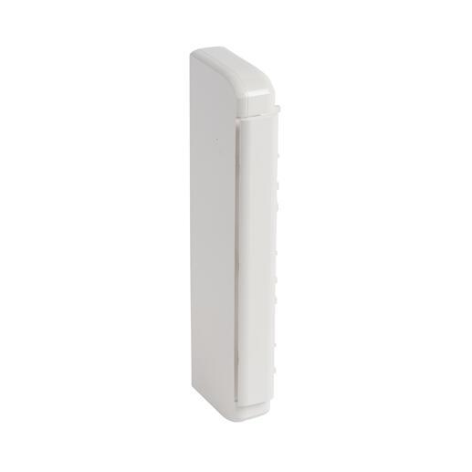 Embout pour goulotte à clippage direct Mosaic 50x180mm - blanc antimicrobien