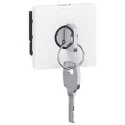 Interrupteur à clé pour BAES Mosaic 2 modules en complément de la télécommande référence 003900 - blanc