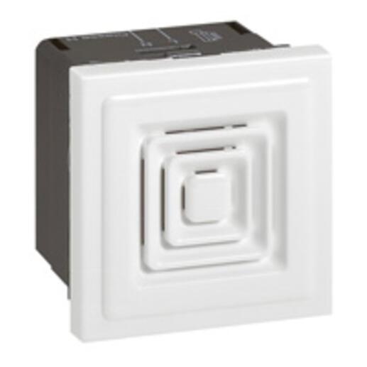 Ronfleur 70dB à 1m Mosaic 2 modules tension 230V~ à 50Hz ou 60Hz et 25mA de consommation - blanc