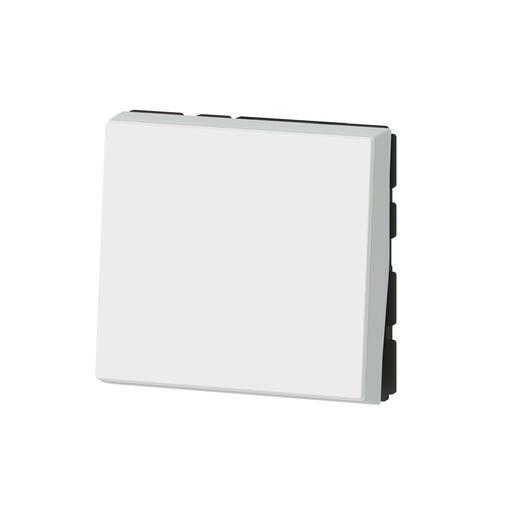 Interrupteur ou va-et-vient 10AX 250V~ Mosaic Easy-Led 2 modules - blanc