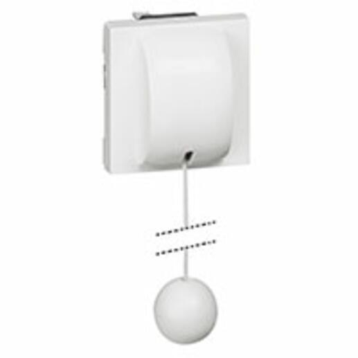 Interrupteur ou va-et-vient à tirage 10AX 250V~ Mosaic 2 modules - blanc