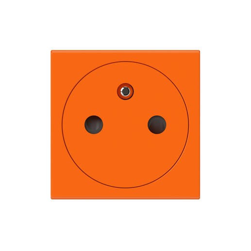 Prise de courant 2P+T Surface Mosaic 2 modules avec connexion par bornes automatiques - orange antimicrobien
