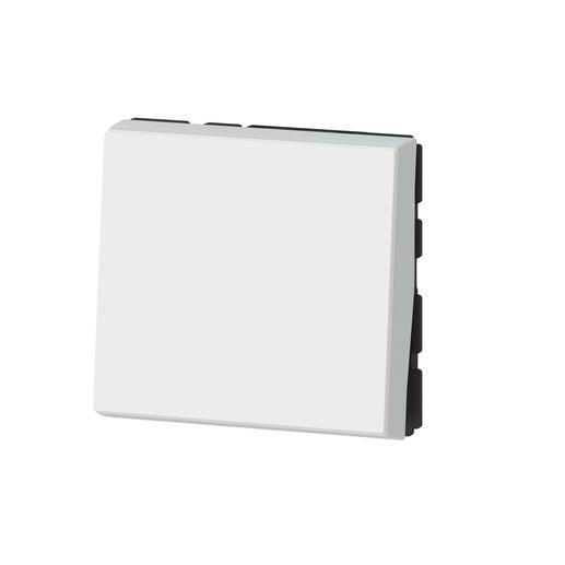 Interrupteur ou va-et-vient 10AX 250V~ Mosaic Easy-Led 2 modules - blanc antimicrobien