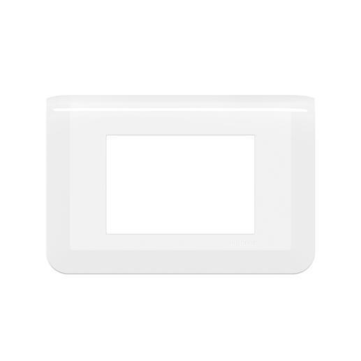 Plaque de finition Mosaic pour 3 modules blanc