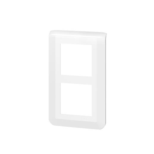Plaque de finition verticale spéciale rénovation Mosaic pour 2x2 modules blanc