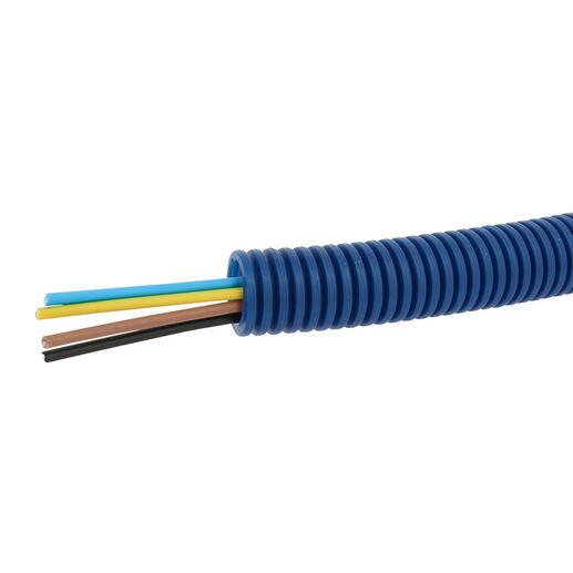 Conduit ICTA Chronofil® Ø20mm avec 4 conducteurs 1,5mm² bleu , marron , noir et vert et jaune - RAL5010