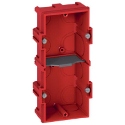 Boîte à encastrer Batibox maçonnerie - 2 postes profondeur 40mm