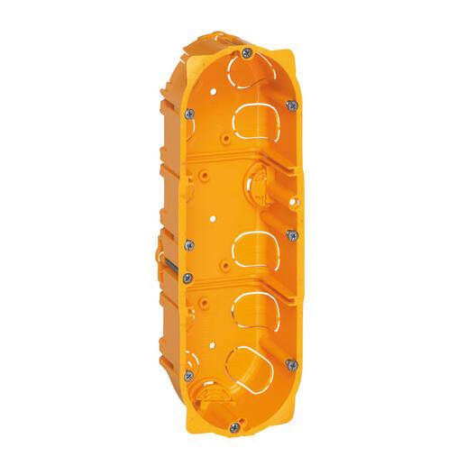 Boîte à encastrer Batibox plaque de plâtre - 3 postes profondeur 40mm