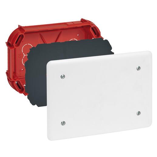 Boîte de dérivation pour maçonnerie - 165x115x40mm - avec couvercle et vis