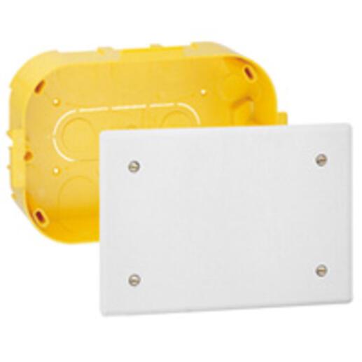 Boîte de dérivation pour plâtre - 160x105, prof. 40mm - avec plaque et vis