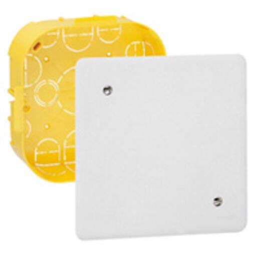 Boîte de dérivation pour plâtre - 170x170, prof. 50mm - avec plaque et vis