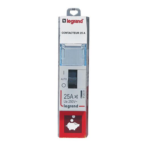 Contacteur pour tarifs heures creuses - bipolaire 230V~ - 25A - 1 module