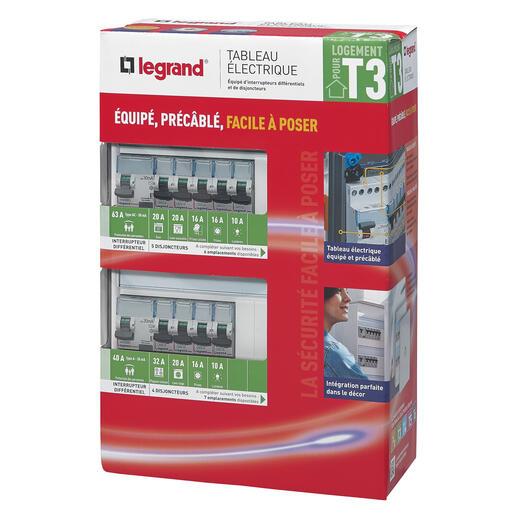 Tableau électrique équipé - spécial pour logement T3