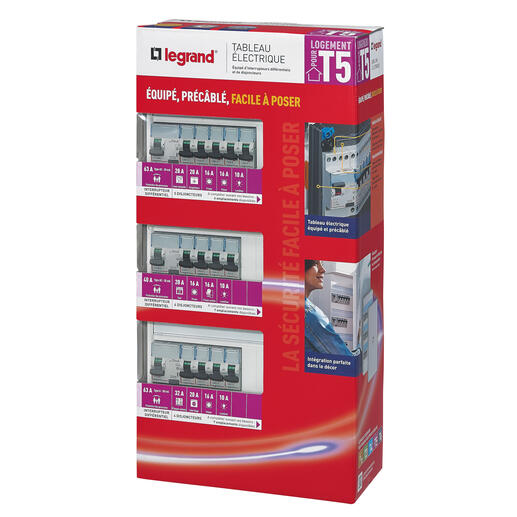 Tableau électrique équipé - spécial pour logement T5