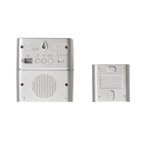 Kit carillon radio sans fils Sérénité simple à piles - aluminium