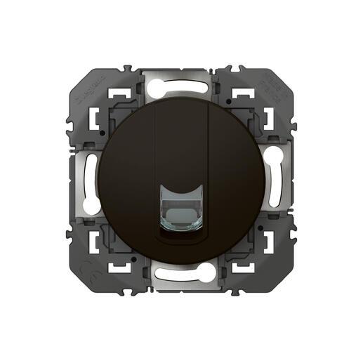 Prise blindée RJ45 cat6 STP dooxie finition noir - emballage blister