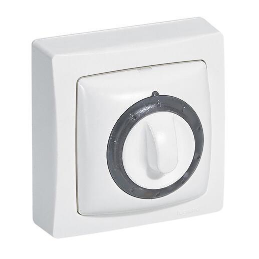 Interrupteur temporisé lumineux (voyant fourni) Appareillage Saillie - Blanc