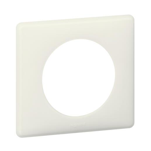 Plaque de finition Céliane - Poudré Craie - 1 poste