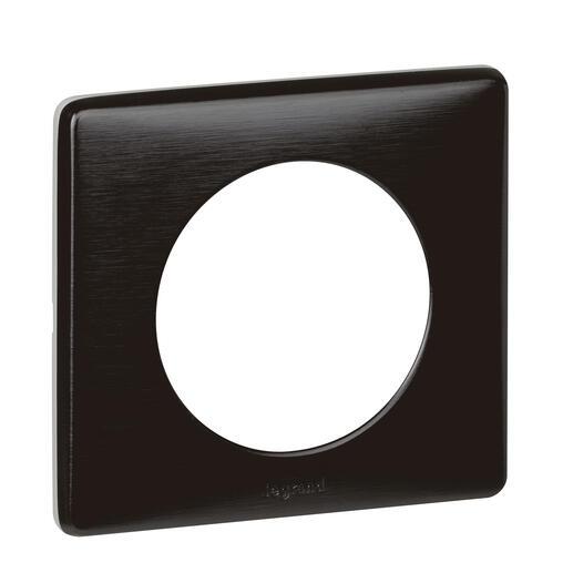 Plaque de finition Céliane - Métal Carbone - 1 poste